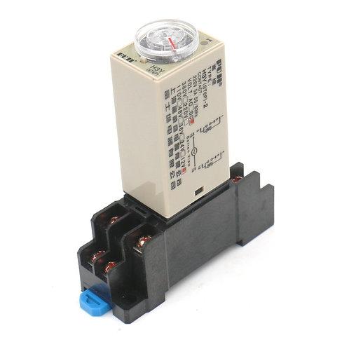 AC 220V H3Y-2 Time Delay Relay Solid State Timer 0-6Min DPDT w Socket