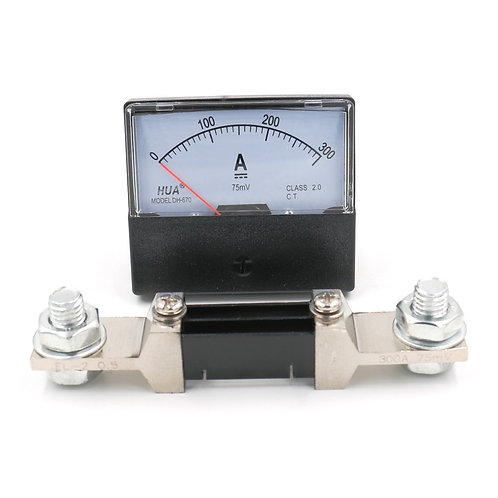 Heschen DH-670 DC 300A Analog Amp Panel Meter Current Ammeter with 75mV Shunt