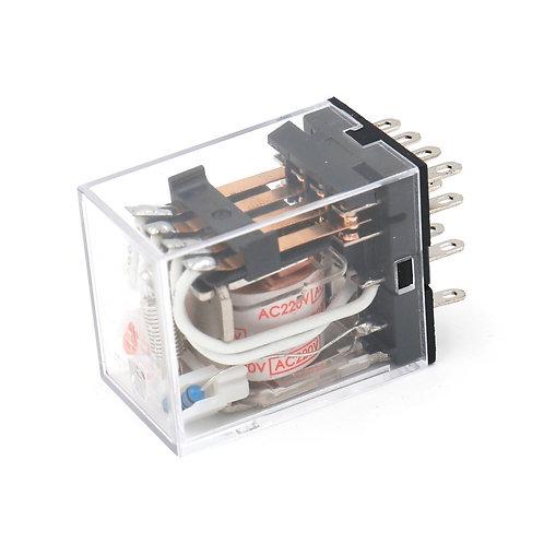 General Purpose Power Relay HH54P AC 220V Coil LED Indicator 14 pin terminal