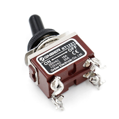 RT-1221 AC 250V 15A Ampere DPST On / Off 2 Posizione 4 Terminali a vite w Imperm