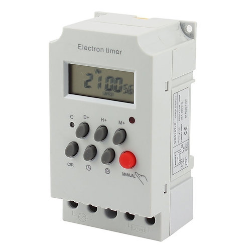 KG316T-II 220V DIN-rail LCD Micro-Computer Electric Power Time Controller Clock