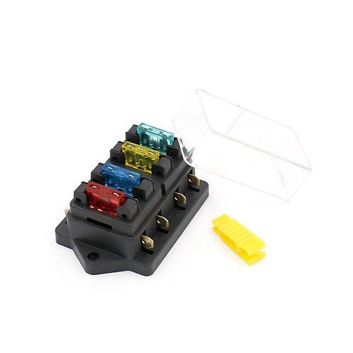 Sicherungshalter Box 4 Way Auto LKW ATO ATC 12V / 24V Blade Sicherungskasten (in