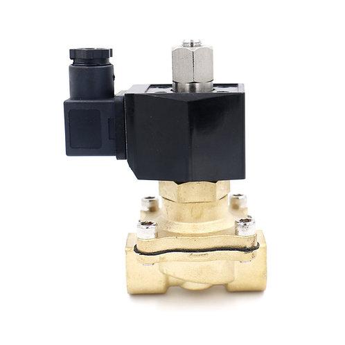 Heschen Heschen Válvula solenoide eléctrica de latón PT3 / 8 DC 24V 2 vías 2 pos
