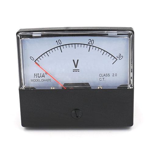 Voltmeter DH-670 DC 0-30V Rechteckspannungsanschluss Voltmeter der Klasse 2.5