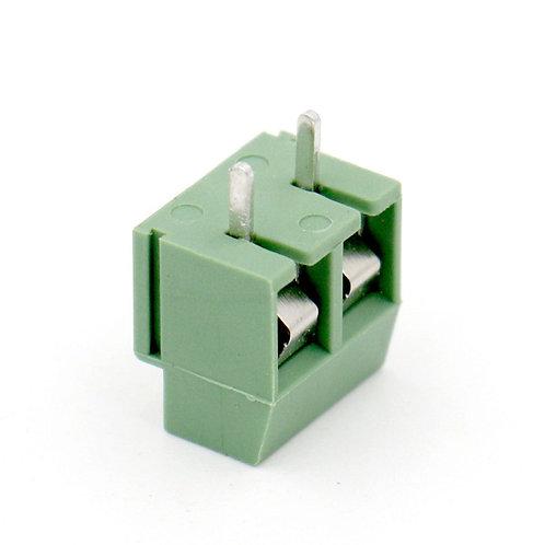 Heschen 5Pcs Morsetto a vite per montaggio su PCB Pole 5mm a 2 vie da 5 mm 8A 25