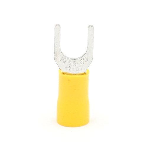 SV 5.5-6 Spade Terminal Einzelcrimp 4-6 qmm 12-10 Drahtgröße Gelb 100 Stck