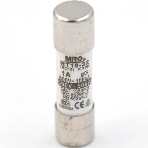 Heschen Fuse Link RT18-32 Tubo de cerámica cilíndrico 10x38mm 500V 1A 20 Pack