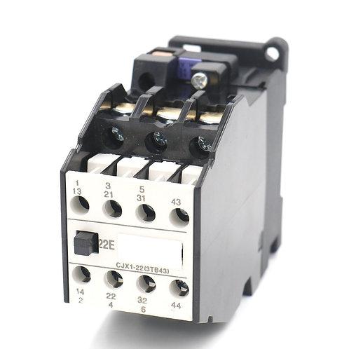 Heschen Contactor de CA CJX1-22 24V 50Hz Bobina 22A 3-Fase 3-polos 2NO + 2NC