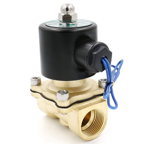 Heschen Brass Electric Solenoid Valve 3/4 Inch AC 220V Direct action Water Air G