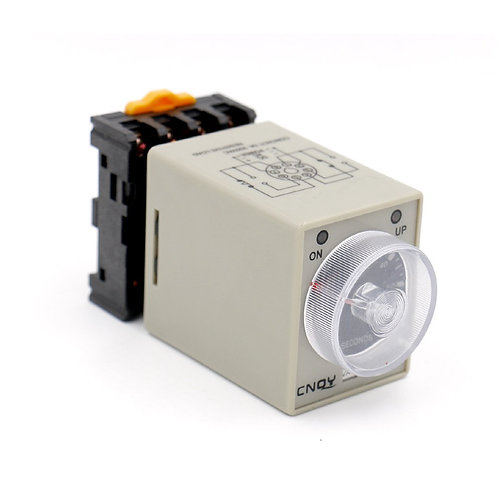 AC 220V AH3-3 Time Delay Relay Solid State Timer 8 Pins 0-60Min with Socket