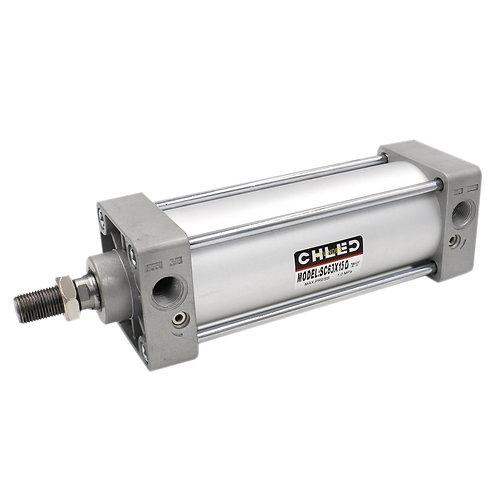 Heschen Pneumatic Air Cylinder SC 63 X 150 PT3/8 Screwed Piston Rod Dual Action