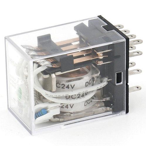 General Purpose Power Relay HH54P DC 24V Coil LED Indicator 14 pin terminal