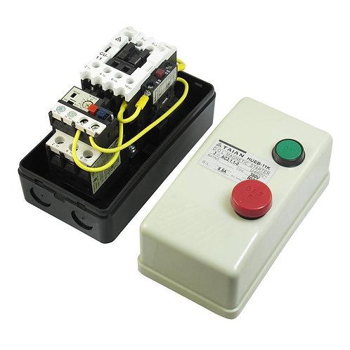 Arrancador magnético HUEB-11K 380V Bobina trifásica 3Pole Contactor de CA 5.5-8.