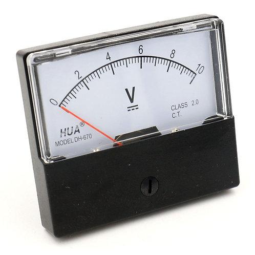 Voltmeter DH-670 DC 0-10V Rechteck-Voltmeter der Klasse 2.5 mit Analoganzeige