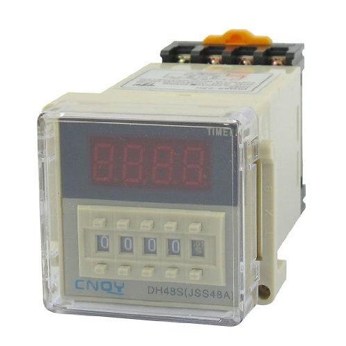 Relais temporisé DH48S-2ZH AC / DC48V DPDT 8P 0.01S-99H99M Retardateur Rail DIN