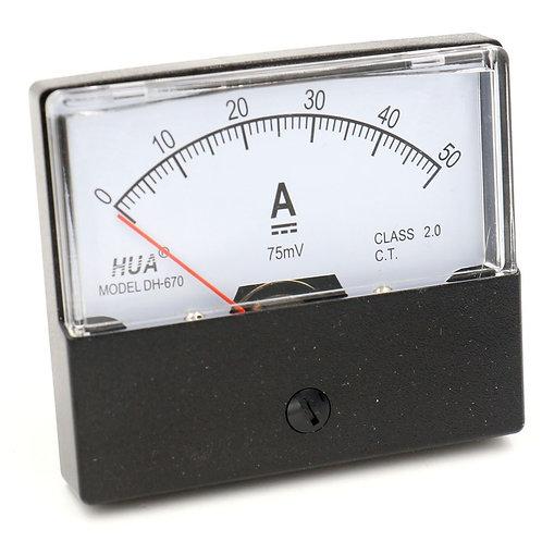 DH-670 DC 0-50 A Ampèremètre Rectangulaire Ampèremètre