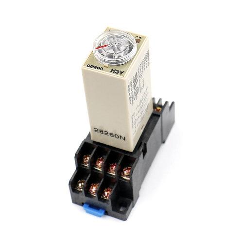 Heschen AC 220 V H3Y-4 Zeitverzögerung Relais Solid State Timer 0-5 Min 4PDT w B