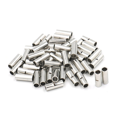 BN5.5 Non-insulated Butt Connectors Terminal for 12-10 A.W.G 4-6mm? Wire 50Pcs