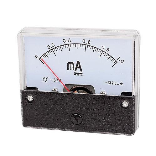 Heschen Amperemeter DH-670 DC 0-1mA Rechteck Klasse 2.5