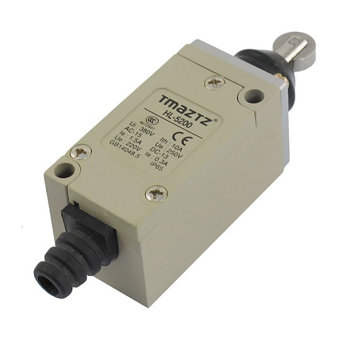 Baomain Limit switch HL-5200 Parallel Roller Plunger Momentary 380V 10A