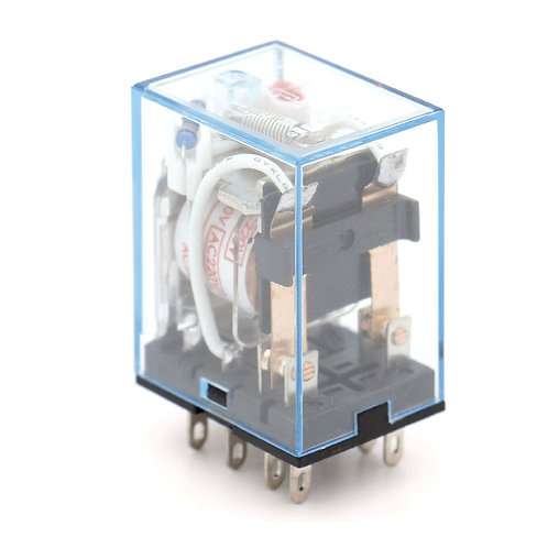 Relé de potencia de propósito general MY2NJ AC 220V Bobina LED Indicador termina
