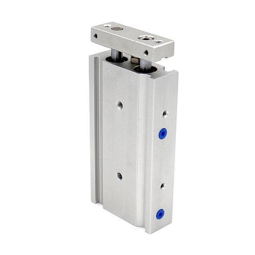Heschen Compact Aluminium Luftzylinder CXSM 20-15 Führungsstab Platte Doppelstab