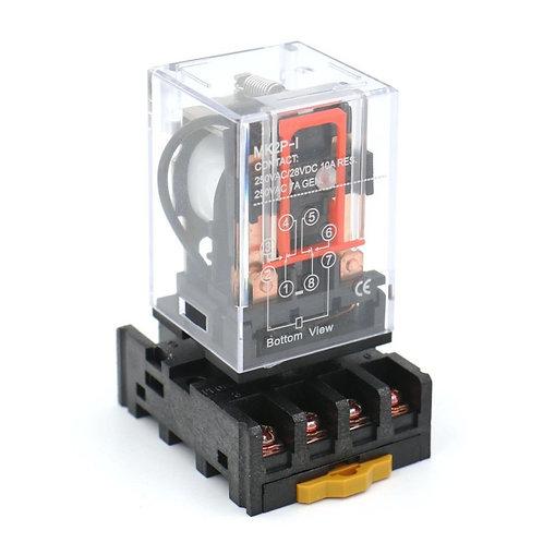 Heschen Power Relay MK2P-I DC 24V bobina DPDT 8 pin con enchufe enchufable