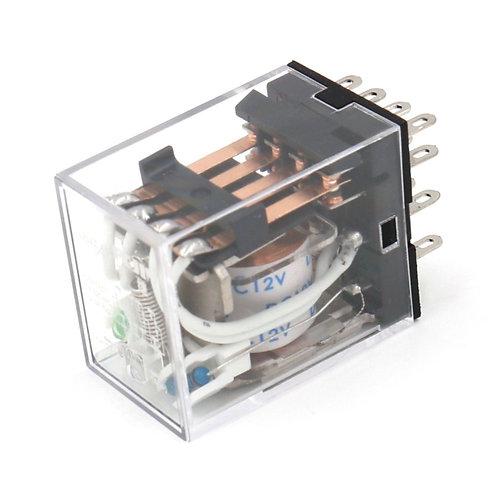 General Purpose Power Relay HH54P DC 12V Coil LED Indicator 14 pin terminal