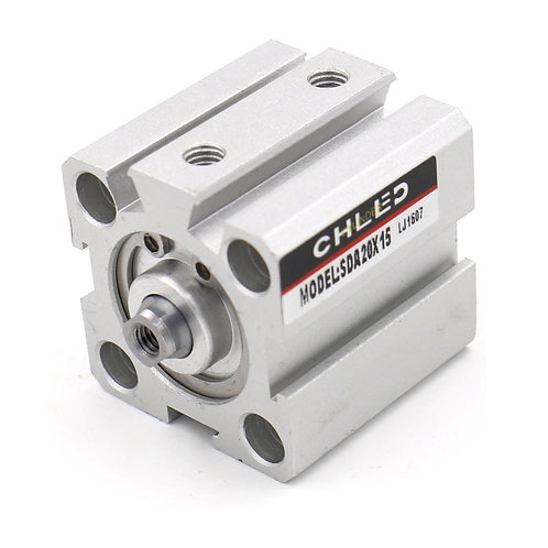Baomain Compact Thin Air Cylinder SDA 20X15 20mm Bore 15mm Stroke M5 port