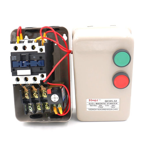 Contact de bobine à CA magnétique de la commande QCX5-11KW 14-22A 24V à CA de dé