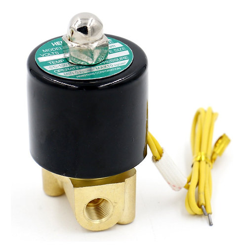 Heschen 1/8 Inch Brass Electric Solenoid Valve for Air Water Valve N/C AC 220V