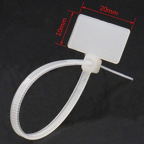 heschen Marker Nylon Zip Kabelbinder Self Locking 110 mm (11 cm) 18 lbs weiß 100