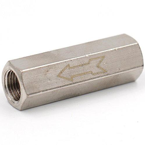 Heschen - Válvula de retención unidireccional, sin retorno, de agua de gas, aire