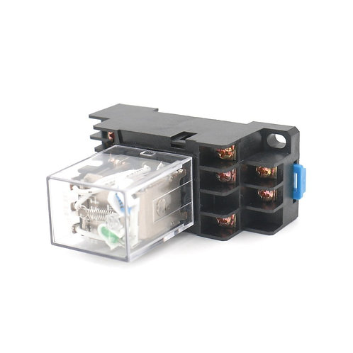 HH53P DC 12V Indicateur LED bobine Terminal 11 broches avec DIN DYF14A Socket Ba
