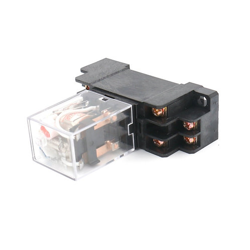 HH52P AC 110V Coil LED Indicator 8 pin terminal with DIN Rail PYF08A Socket Base