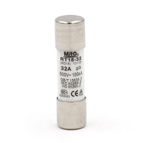 Heschen cilindro de cerámica fusible RO15 RT19 RT18 RT14 gG 10 x 38 mm 500 V 32