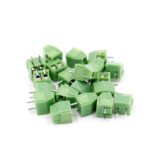 Heschen 5 piezas de 3.5 mm de paso 2 pines PCB montaje de bloque de terminales c