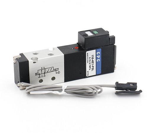 Válvula solenoide neumática Heschen 110-4E1-PSL DC 24V 5 vías 2 posiciones 4 mm