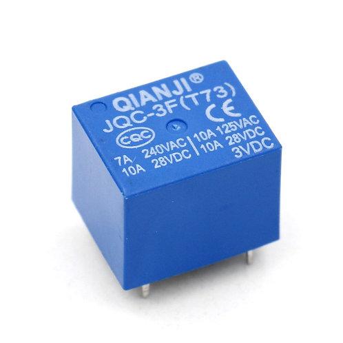 Relais de puissance JQC-3F (T73) 3VDC SPST 7A 240VAC 10A 125VAC / 28VDC 5 broche