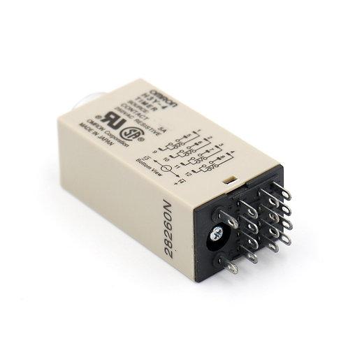 Heschen AC 220V H3Y-4 Relais à retardement Minuterie statique 0-30S 4PDT avec pr