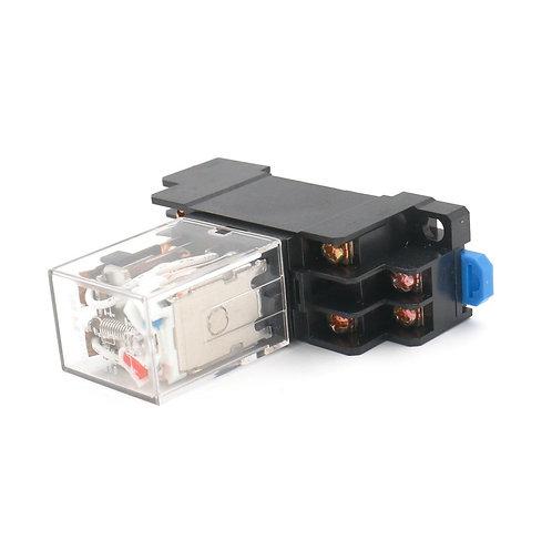JQX-13F AC 24V Coil LED Indicator 8 pin terminal w DIN Rail PTF08A Socket Base