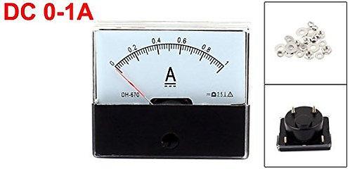 DH-670 DC 0-1A Rechteckige Ampere Nadelanzeige Meter Amperemeter