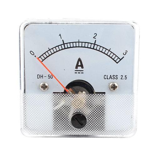 Heschen Ampèremètre DH-50 Analog Panel Panel Meter Classe 2.5 DC 0-3A