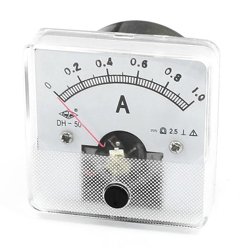 Baomain Ammeter DH-50 Analog Current Panel Meter Class 2.5 DC 0-1A