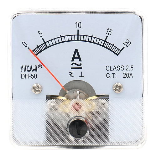 Heschen Amperometro DH-50 Analog Current Panel Meter Classe 2.5 AC DC 0-20A