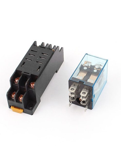 Heschen AC 12V Coil Power Relay 10A DPDT LY2NJ with PTF08A Socket Base