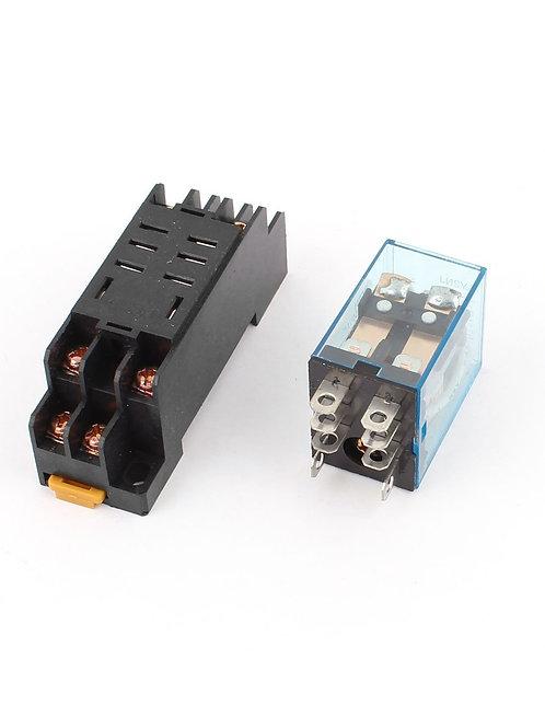 Relais de puissance de bobine à CA 12V Heschen 10A DPDT LY2NJ avec la base de pr