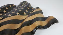 Carved American Flag - Sculpture