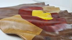 Carved Colorado Flag - Sculpture
