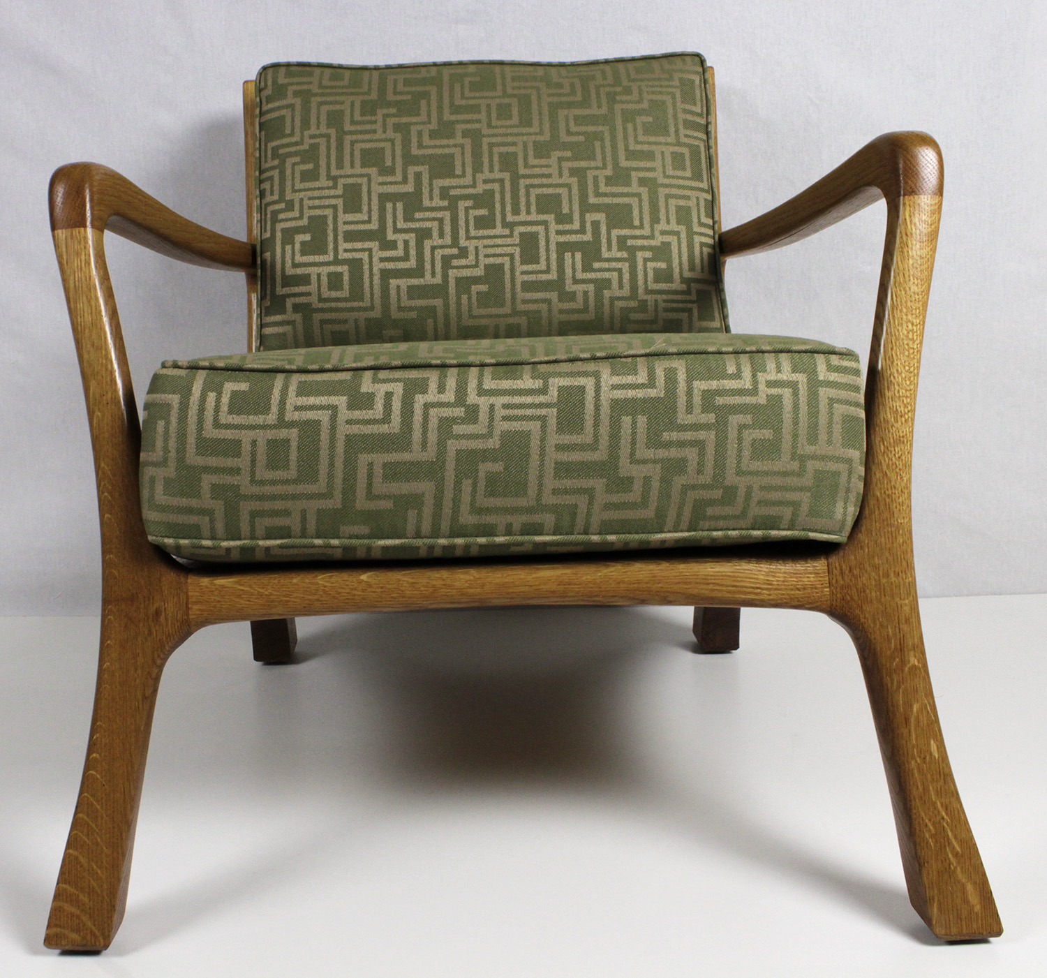Sculpted mid century modern chair